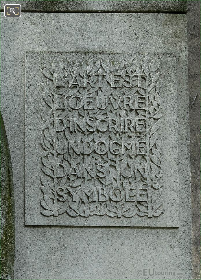 LHS Inscription On Paul Adam Monument