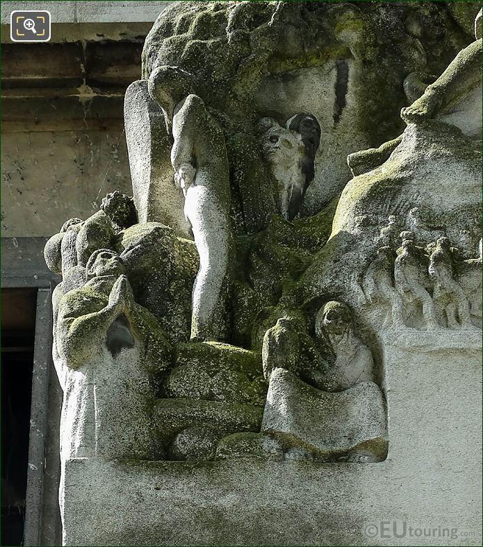 Top RHS Carvings Paul Adam Monument