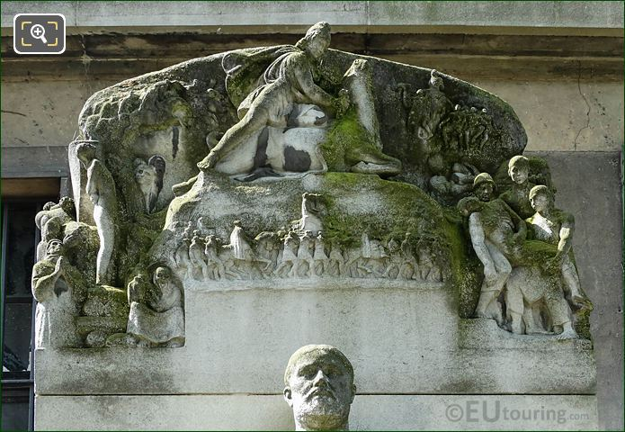 Top Carvings On Paul Adam Monument Paris