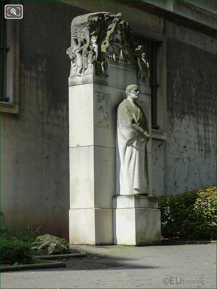 RHS Paul Adam Monument In Jardins Du Trocadero