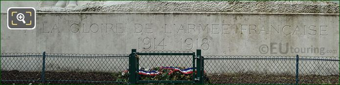 Inscription On Monument A La Gloire Des Armees Francaises
