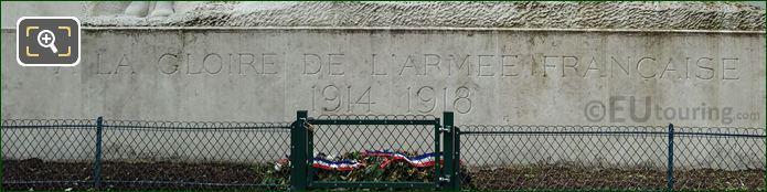 Inscription On Monument A La Gloire Des Armees Francaises