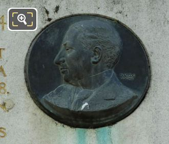 Bronze Medallion Georges Mandel By Francois Cogne