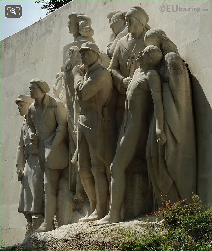 RHS Of Monument To The Glory Of The French Armies Of 1914 -1918