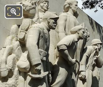 LHS Of World War I Monument To The Glory Of The French Armies Of 1914 -1918