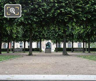 Tuileries Garden With La Mediterranee Statue