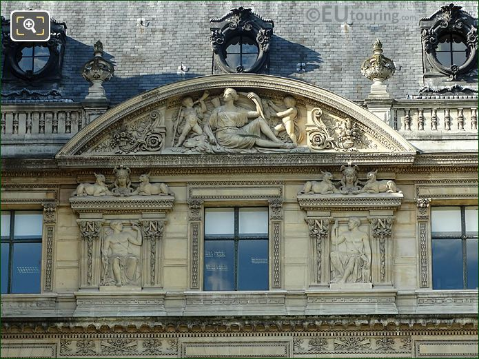 Aile De Flore Roof Line 1st Pediment Sculpture
