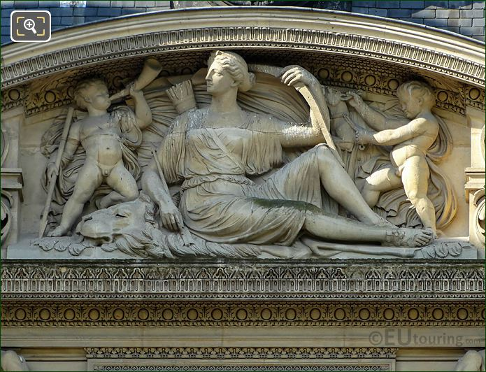Aile De Flore Pediment Sculpture By Artist Louis Merley