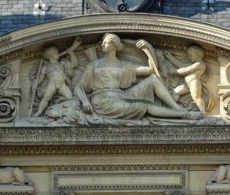 Aile De Flore 1st LHS Pediment Sculpture