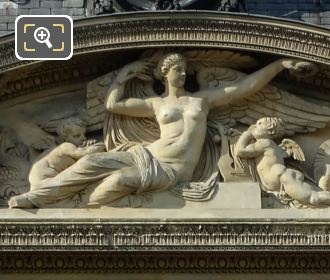 Pediment Sculpture La Gloire Aile De Flore