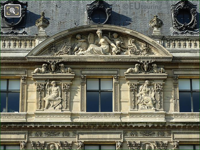 L' Histoire Sculpture Aile Flore At Musee Louvre