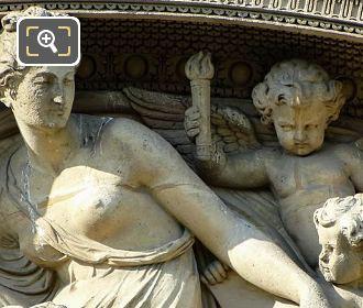 Close Up Of L' Histoire Sculpture Aile Flore