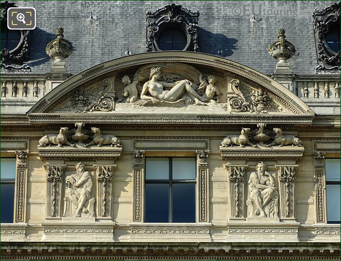 Fifth Pediment Window Aile Flore Musee Louvre