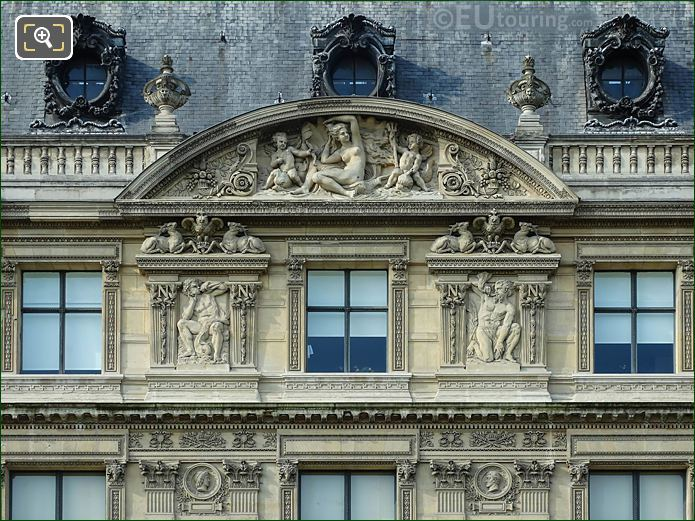 Aile Flore Sixth Pediment Sculpture Musee Louvre