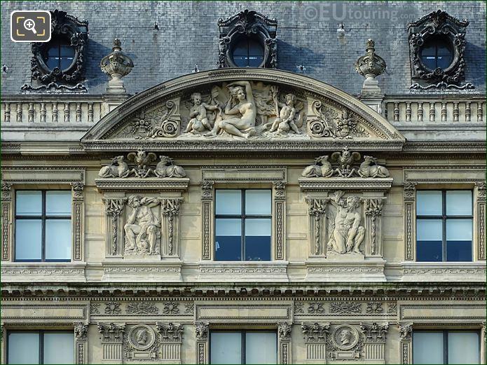 Aile Flore Sixth Pediment Sculpture Musee Louvre