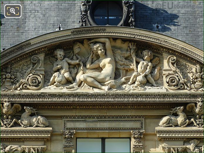 Sixth Pediment Sculpture Aile Flore At Musee Louvre