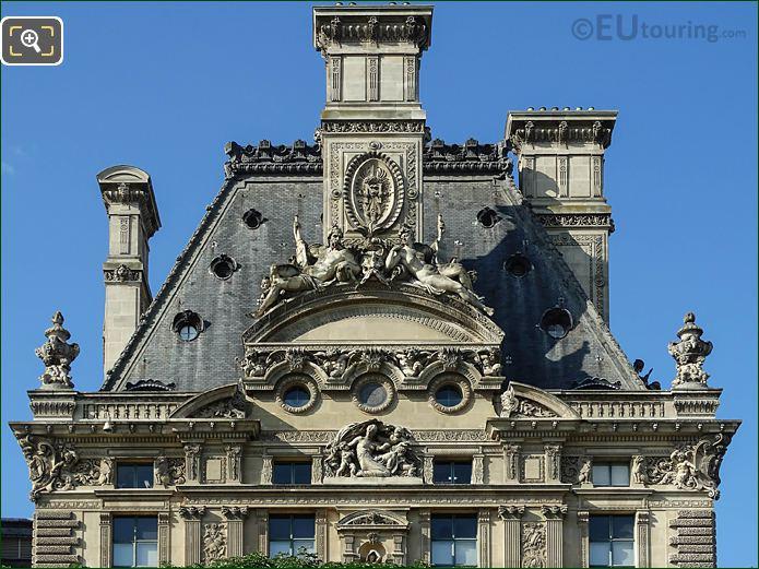 Top Roof Pavillon De Flore Nord At The Louvre