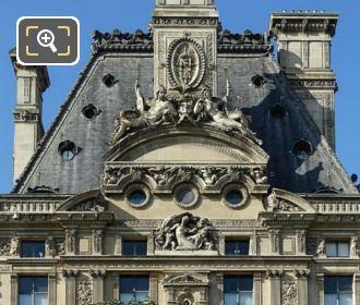 North Side Roof Pavillon De Flore The Louvre