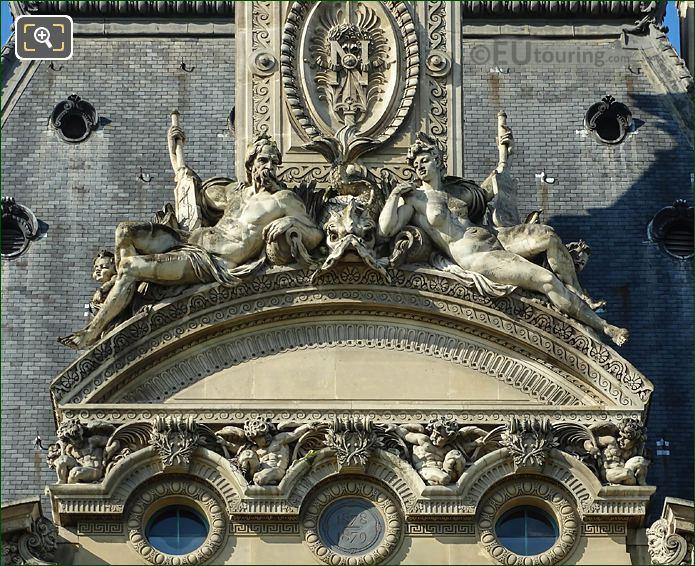 Pediment Statue Group On Pavillon De Flore Nord