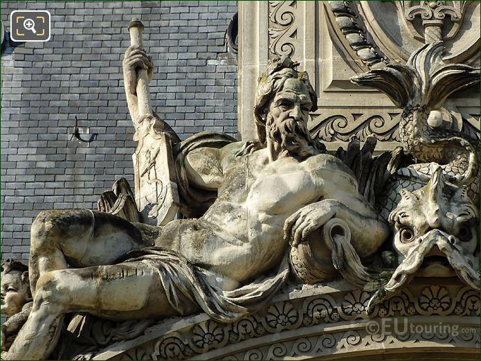 Male Figure Pavillon De Flore North Pediment Statue Group