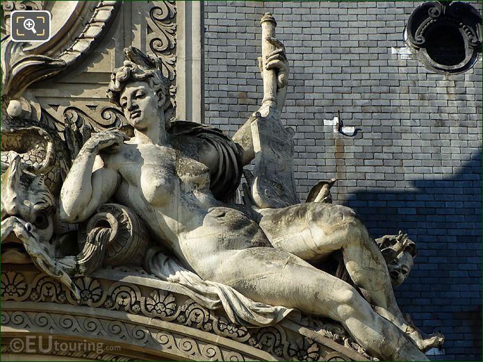 Female Figure Pavillon De Flore North Pediment Statue Group