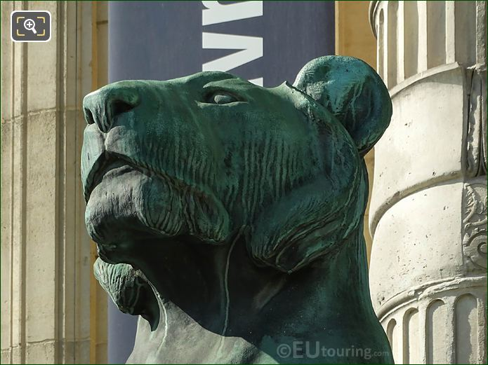 Bronze Head Of LHS Lioness Statue Porte Jaujard
