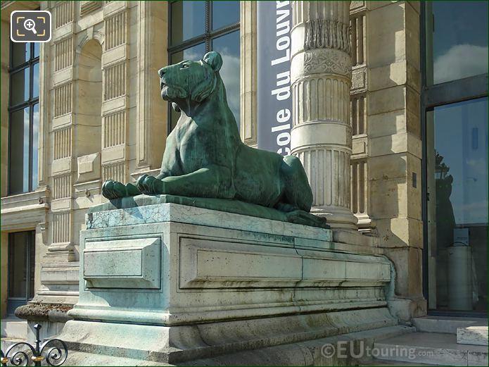 LHS Lioness Statue Porte Jaujard Entrance Aile Flore