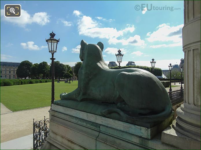 LHS Lioness Statue Looking Over Cour Carrousel