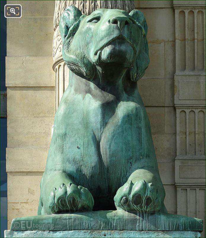 Front Of Lioness Statue By Artist Auguste Cain