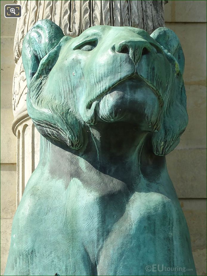 Front Of Bronze Lioness Head Aile De Flore