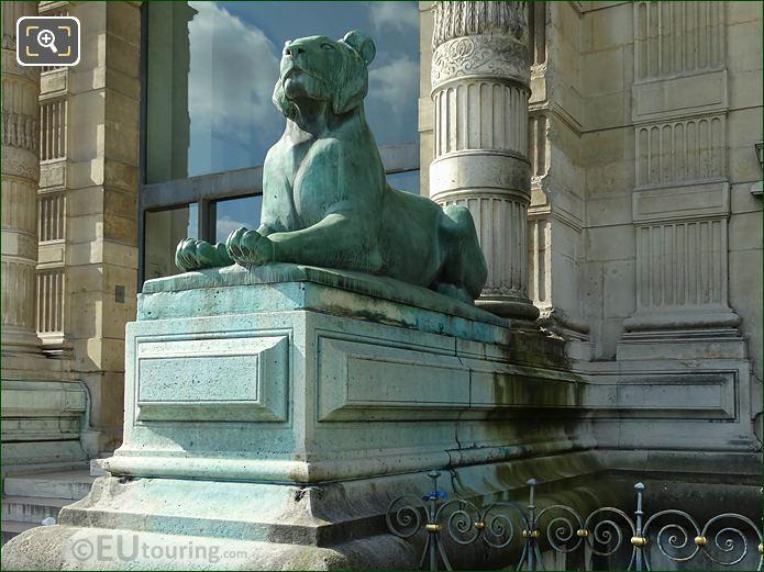 LHS View Of Lioness Statue Porte Jaujard