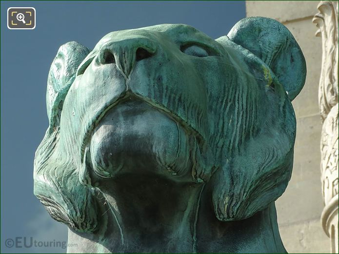 Bronze Lioness Head By Sculptor A Cain