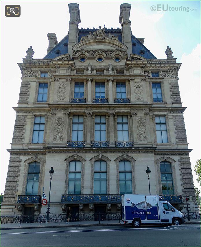 West Facade Pavillon Flore Musee Du Louvre