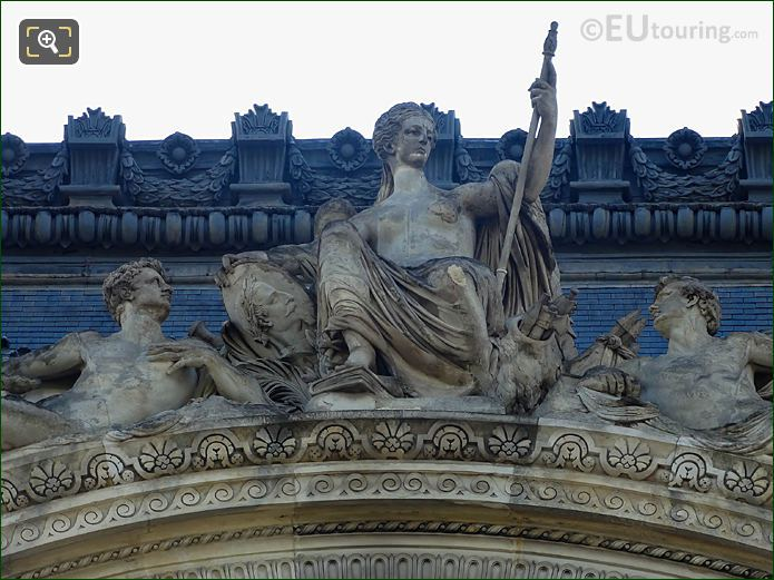 Pavillon Flore Pediment Sculpture By Artist Jules Cavelier