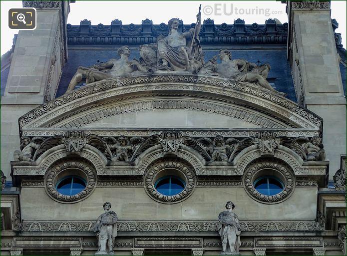 Pediment Sculpture West Side Pavillon Flore Musee Louvre