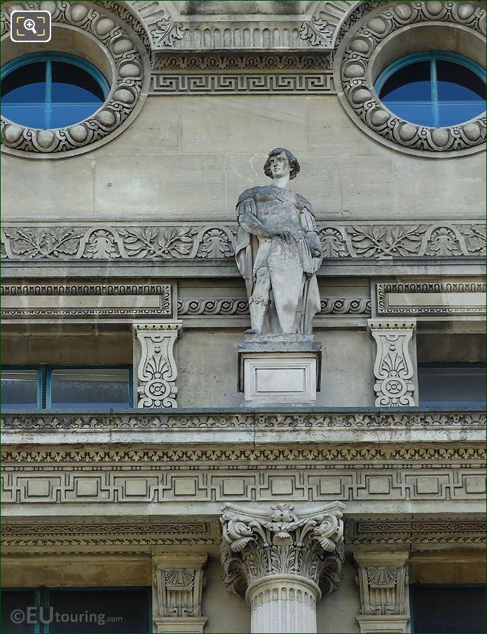 Sentinelle Statue Pavillon De Flore West Facade