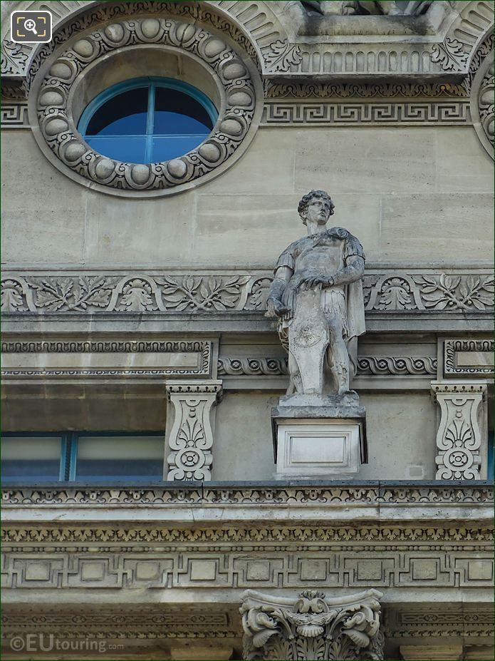 LHS Sentinelle Statue West Facade Pavillon De Flore
