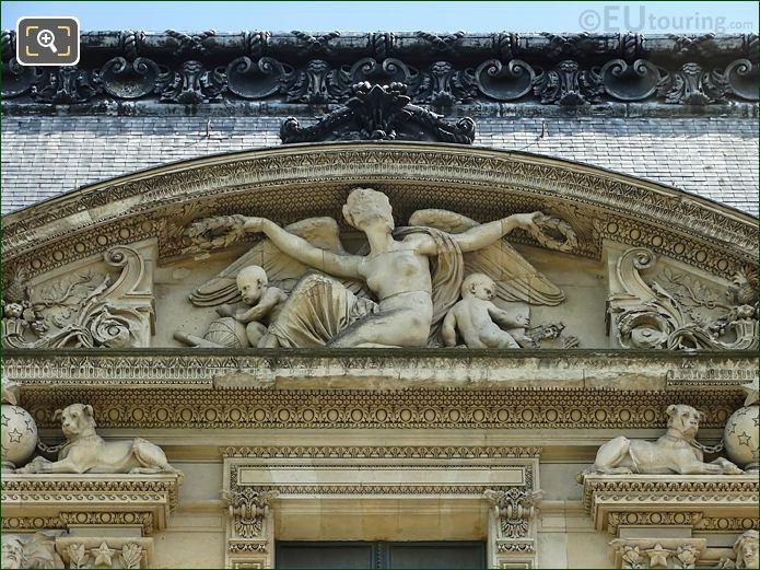 2nd Pediment Sculpture South Facade Aile Marsan
