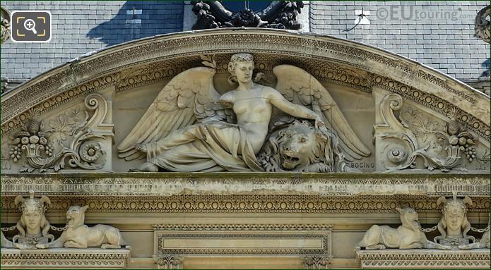 La Paix Sculpture South Facade Aile Marsan