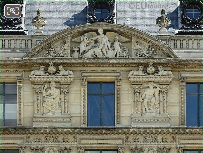 Aile Marsan Seventh Pediment Sculpture Musee Louvre