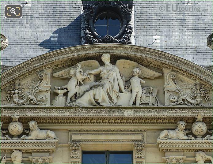 7th Pediment Sculpture South Facade Aile De Marsan