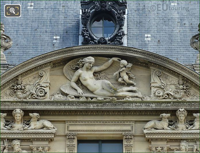 Sixth Pediment Sculpture South Facade Aile Marsan