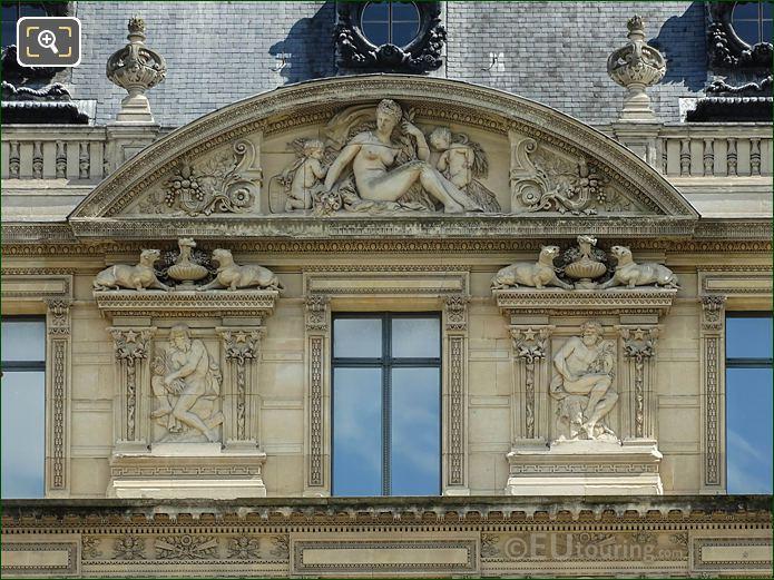 Aile Marsan L'Abondance Sculpture Musee Louvre