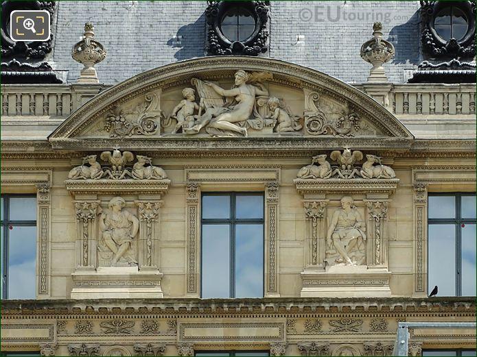 Aile Marsan L'Architecture Sculpture Musee Louvre