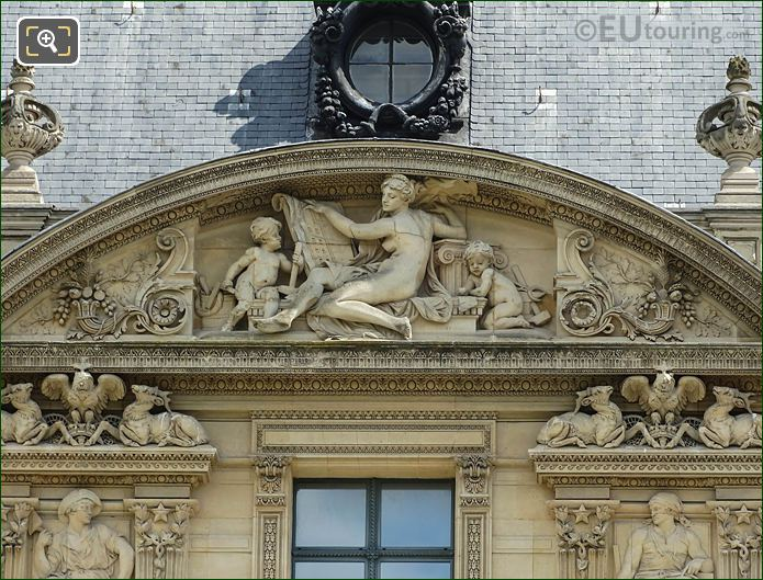 L'Architecture Sculpture South Facade Aile Marsan
