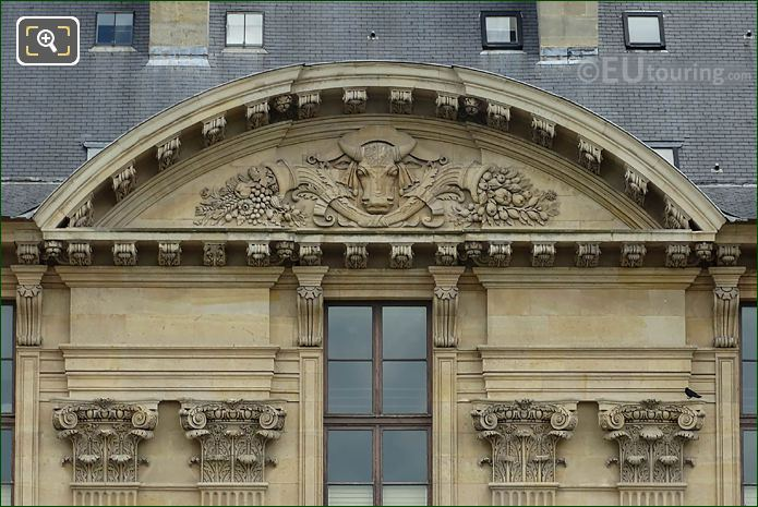 L'Agriculture Sculpture South Facade Aile Rohan Musee Louvre