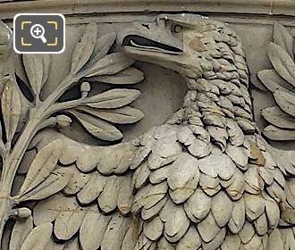 Pediment Eagle Sculpture By Combette