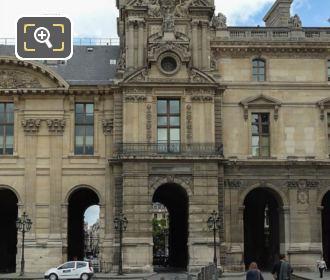South Facade Pavillon De Rohan At The Louvre