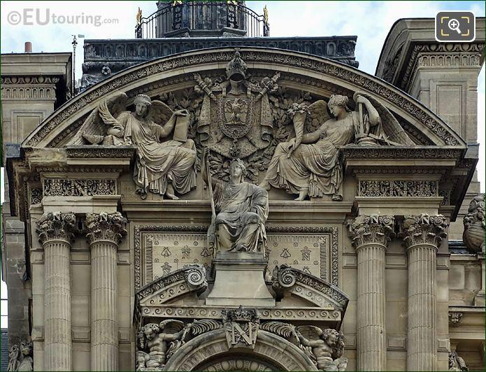 Allegory Statue Group Of France Pavillon De Rohan
