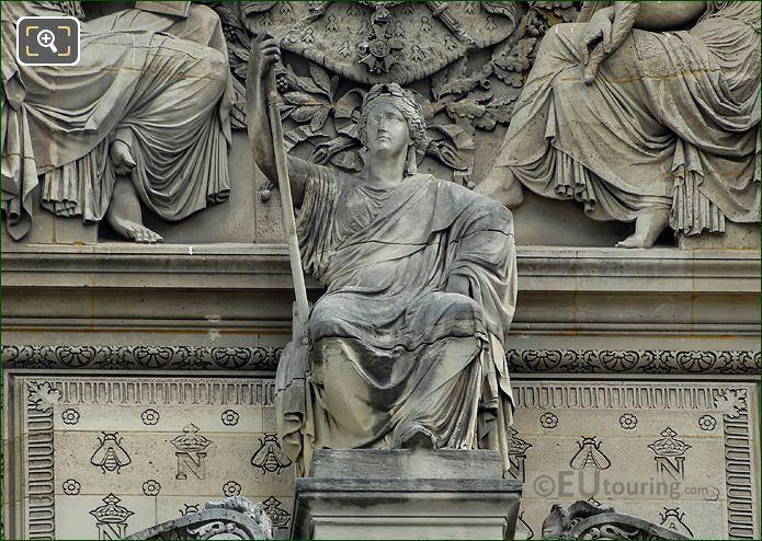 France Statue Pavillon De Rohan Louvre